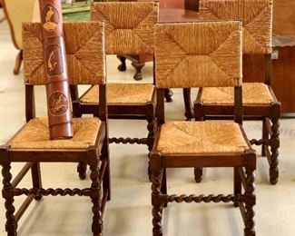 Set of BEAUTIFUL antique  barley twist cane chairs