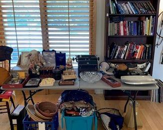 baskets, books and handbags