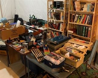 books, fishing items and more tools