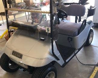 Ride VIP in this EZ GO golf mobile!