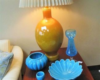 Mid Century Pottery Table Lamp