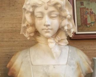 Stunning marble and alabaster bust