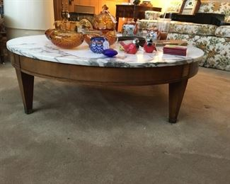 Beautiful marble top low coffee table