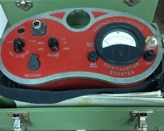 Vintage Chatham Electronics scintillation counter