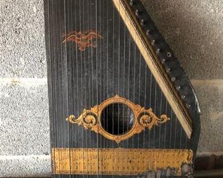 antique harp