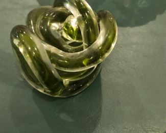 "twisted glass ""thingy"" $10.00"
