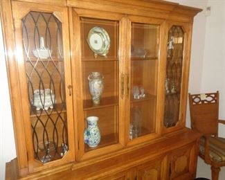 Table/six chairs/leaves and beautiful china cabinet to match