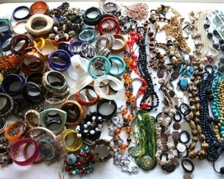 An INCREDIBLE volume and variety of costume jewelry
