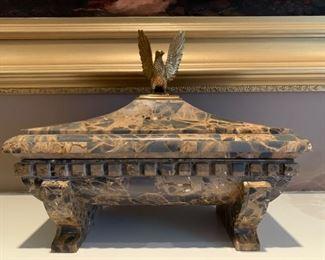 Maitland Smith natural stone box.