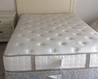 Queen mattress, box spring, and headboard. Excellent condition. The headboard is available separately
