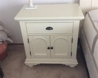 Bedside table with doors and drawer