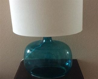 West Elm style glass table lamp