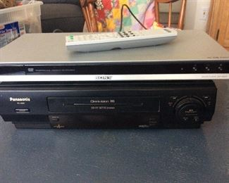 Panasonic VHS player and Sony CD/DVD player available separately