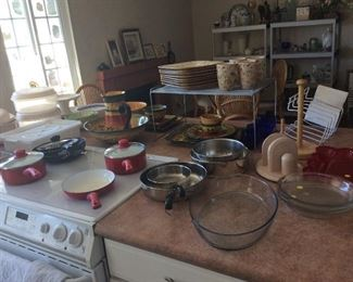 Dishes and cook ware