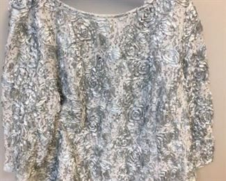 Silver spangles top