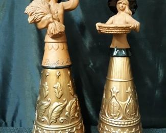 Terracotta and copper figurines by Kim Lawrence