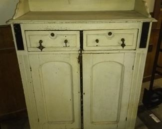 Jelly cabinet in old white paint