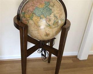 Illuminating Floor Globe