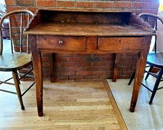 Circa 1740 English oak clerk desk