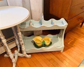 Farmhouse Vintage Painted Table $45