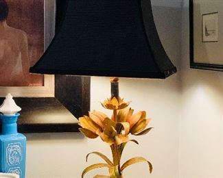 Antique Italian Toleware Lamp $50