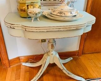 Gorgeous Antique Game Table $185