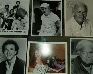 Love Boat Guest Stars signed photos and lobby cards from the 80's.