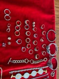 Many 10k and 14k ladies rings. Most are size 8.
