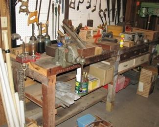 Bench vise and much misc.