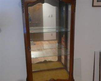 Carved wood and glass Curio Cabinet $349