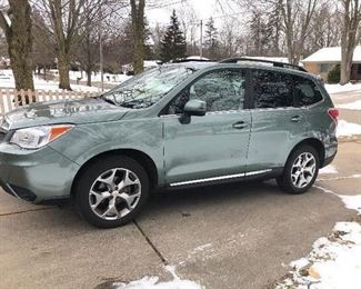 2015 Subaru Forester, 9,500 miles.  Taking bids until 3pm Sunday.
