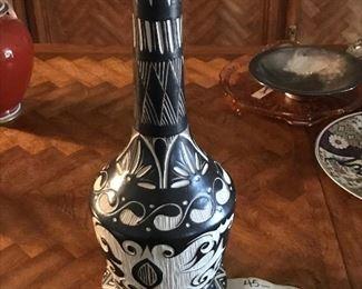 indian/southwest vase/lamp base