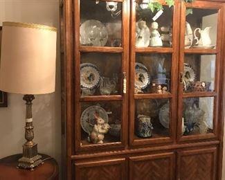 beautiful china cabinet full of treasures