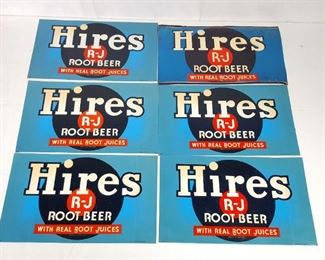 Advertising Hires R J Root Beer Signs