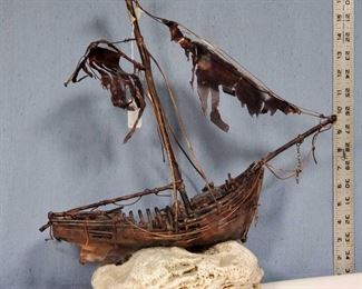 Art Copper Shipwreck Statue