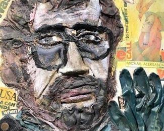 Signed Konstantin BOKOV Found Art Collage