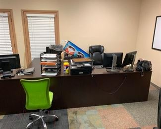 Pic of the L-shaped desks (this is two together) from prior office.
