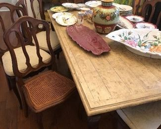 Set of chairs great table w 2 leaves