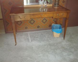 Mid century Baker desk with chair. (chair not shown).
