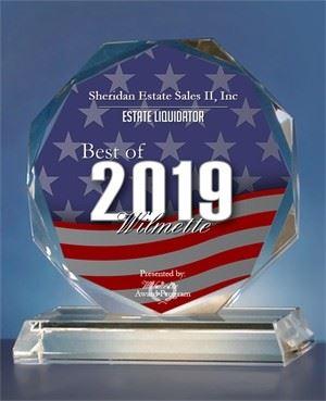 2019 Best Estate Liquidator of Wilmette award