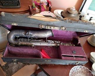 Antique saxphone