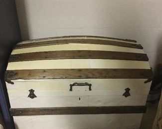 Antique Camelback Trunk