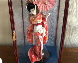 Geisha Doll Display