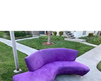 Purple velvet serpentine sofa... great condition