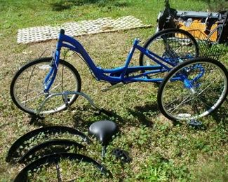 Brand new never assembled 3 wheel bicycle right out of the box