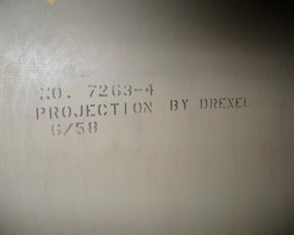Projection factory stencil identification