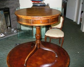 "important Beacon Hill collection 1920s 20"" diameter drum table"