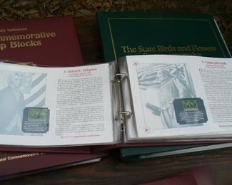 State birds stamps in binders