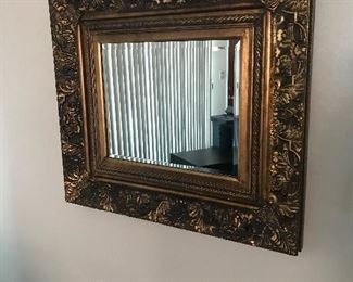 Ornate framed mirror!