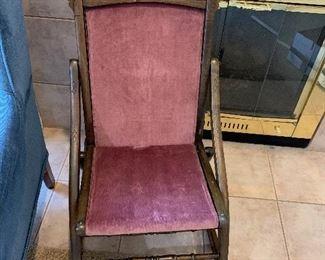 antique folding rocker $40